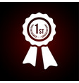 first place award winner badge icon emblem for vector image vector image