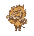 fully editable of a roaring cartoon lion vector image