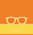 Geek glasses icon vector image vector image