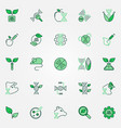 gmo creative icons set genetic vector image vector image