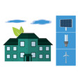 green energy in house vector image