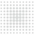 grey dots on white background vector image