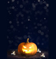 happy halloween holiday poster vector image vector image