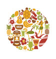 hawaii travel sightseeing icons and vector image vector image