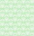 Intricate White Luxury Seamless Pattern on Green vector image vector image