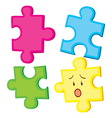 Jigsaw puzzle in four pieces vector image