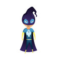 kid dressed as superhero cute superhero kid in vector image