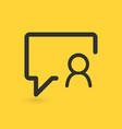 linear chat bubble user icon person profile vector image vector image