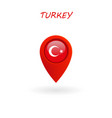 location icon for turkey flag eps file vector image vector image