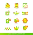Logo design elements icon set vector image vector image