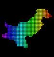 luminous dot pakistan map vector image vector image
