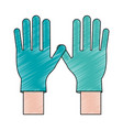medical latex gloves vector image vector image