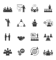 Meet People Online Icons vector image vector image