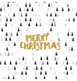 Merry Christmas Golden glitter Postcard Christmas vector image vector image