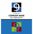 Number nine 9 logo icon template elements vector image vector image