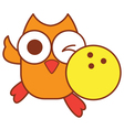 Owl Bowling vector image