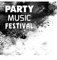 party music festival black brush background vector image vector image