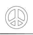 peace symbol icon design vector image