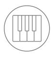 Piano keys line icon vector image vector image