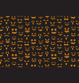 pumpkin faces seamless pattern halloween jack o vector image vector image