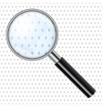 realistic magnifying glass magnify vector image
