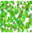 seamless abstract random pine tree pattern vector image vector image