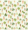 seamless pattern with dancing ladyes in vector image