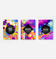 set of cover design with abstract multicolored vector image vector image