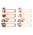 Set of romantic banners vector image vector image