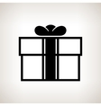 Silhouette gift box on a light background vector image