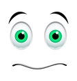 Stunned emoticon sign vector image vector image