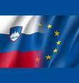 symbol slovenia is eu member vector image vector image
