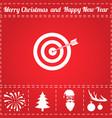 target arrow icon vector image vector image