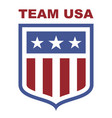team usa shield vector image vector image