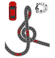 the road is stylized in the form of a treble clef vector image vector image