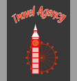 travel agency minimalistic poster with text vector image