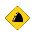 usa traffic road signswatch for falling rocks vector image