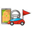 vehicle mobile location marker autonomous car vector image vector image