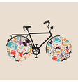 Vintage hipsters icons bike vector image vector image