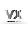 vx v x lines letter design with creative elegant vector image vector image