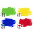 Watercolor in bucket and wall vector image vector image