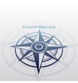 Wind rose with happiness vector image vector image