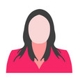 woman avatar professional icon woman vector image vector image