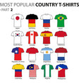 most popular country t-shirts part 2 vector image