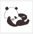 Cartoon panda bear vector image