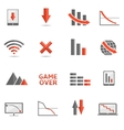 Crisis icons vector image