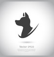 hunting dog head icon on gray background vector image