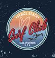 summer surf club retro badge vector image