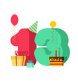 13 year greeting card birthday 13th anniversary vector image