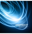 Abstract Blue Lights Effect Background vector image vector image